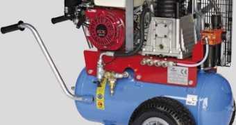Βενζινοκίνητος αεροσυμπιεστής. Κλαδευτικό 100lit
